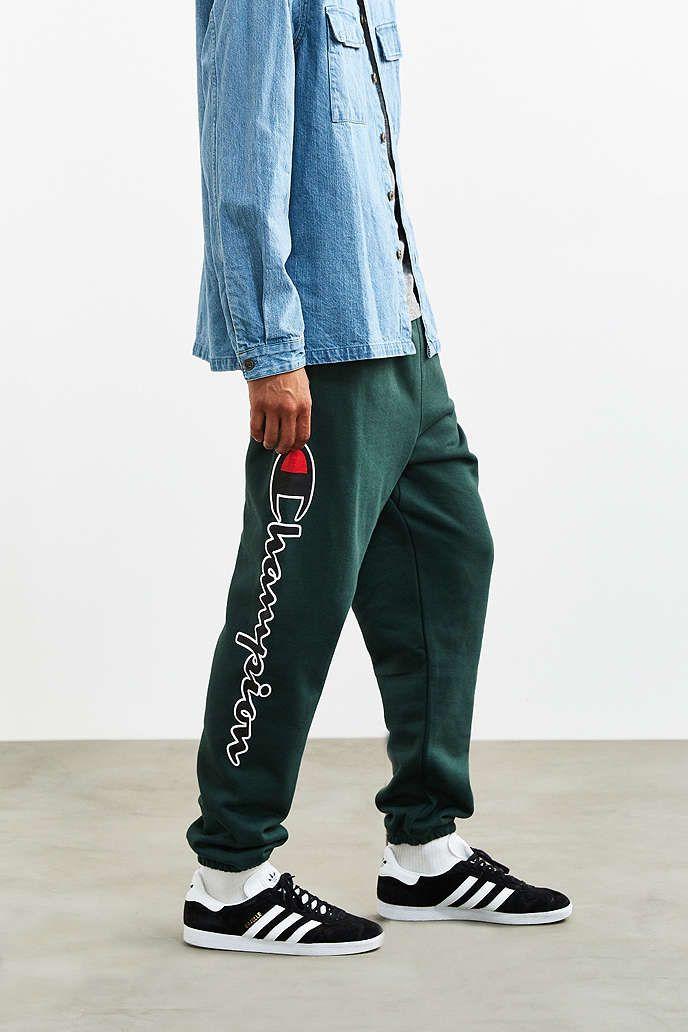 2a87e0634b4e Champion Green reverse weave sweatpants