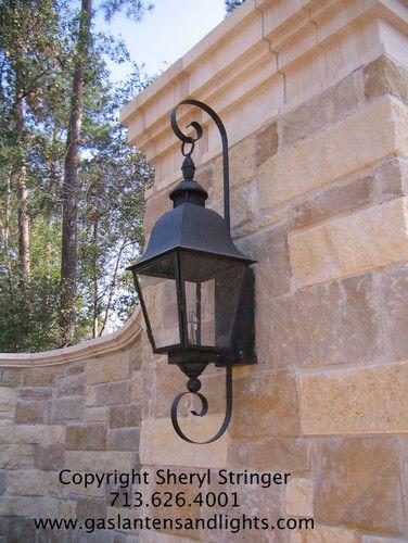 tuscan gas lanterns mediterranean
