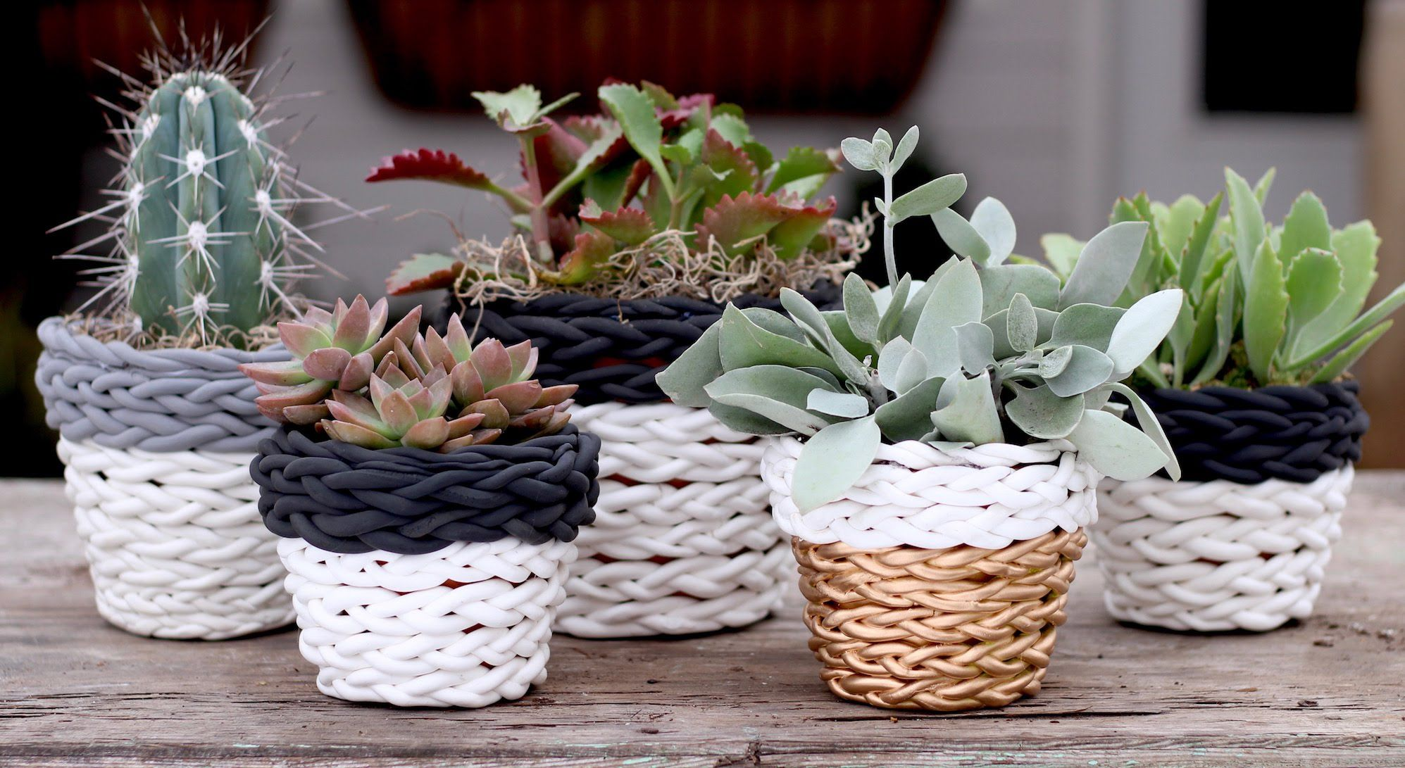 Don't these ceramic pots look awesome with the braided air