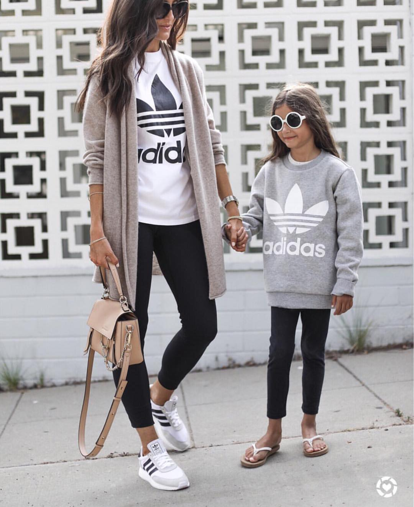 Cute Adidas Outfits For Women  White Adidas Top, Black Adidas