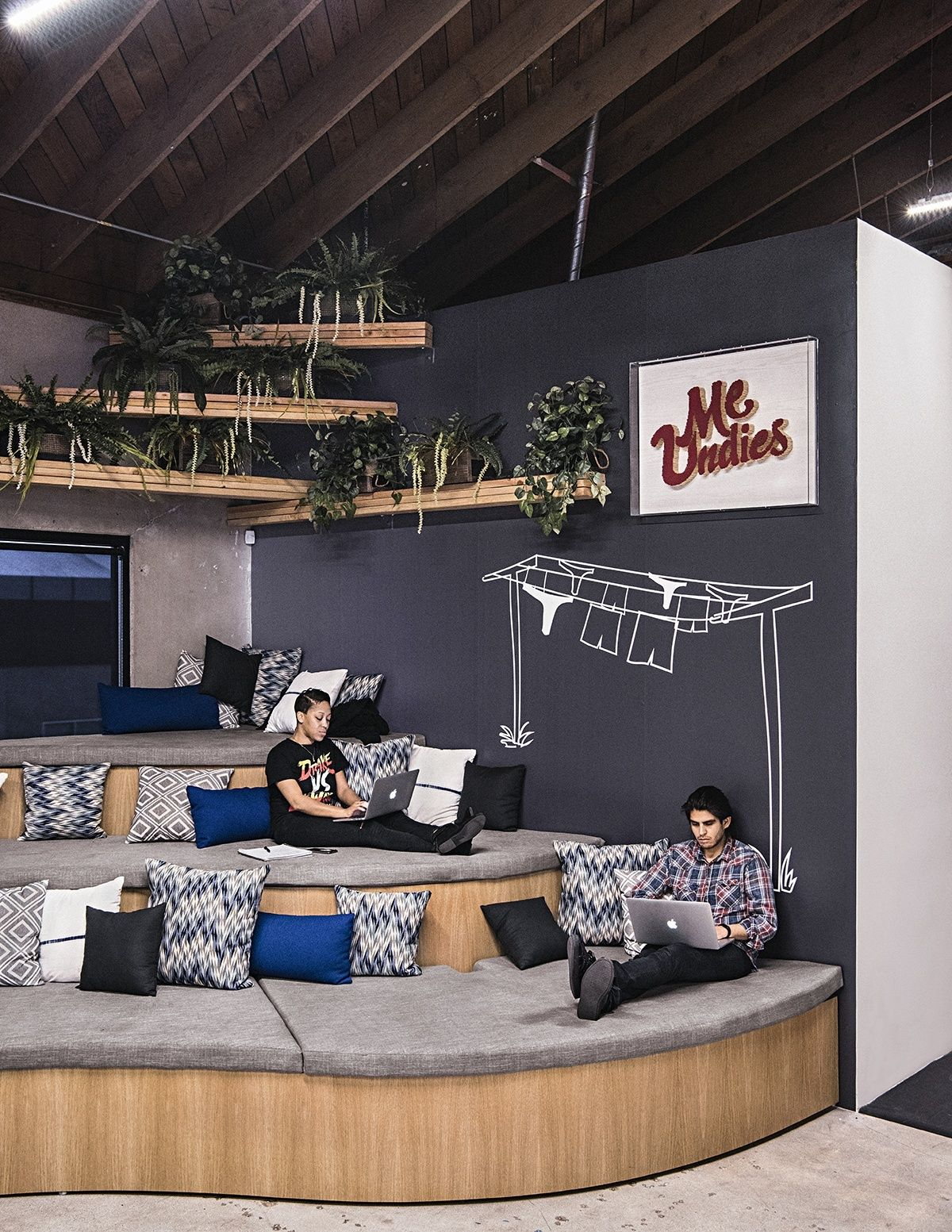 An Exclusive Tour Of Meundies Super Cool Los Angeles Office Cool Office Space Small Office Design Corporate Office Design
