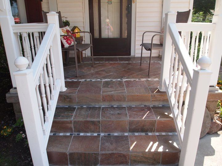 Front Porch Tile Project Porch Tile Tile Projects Outdoor Design