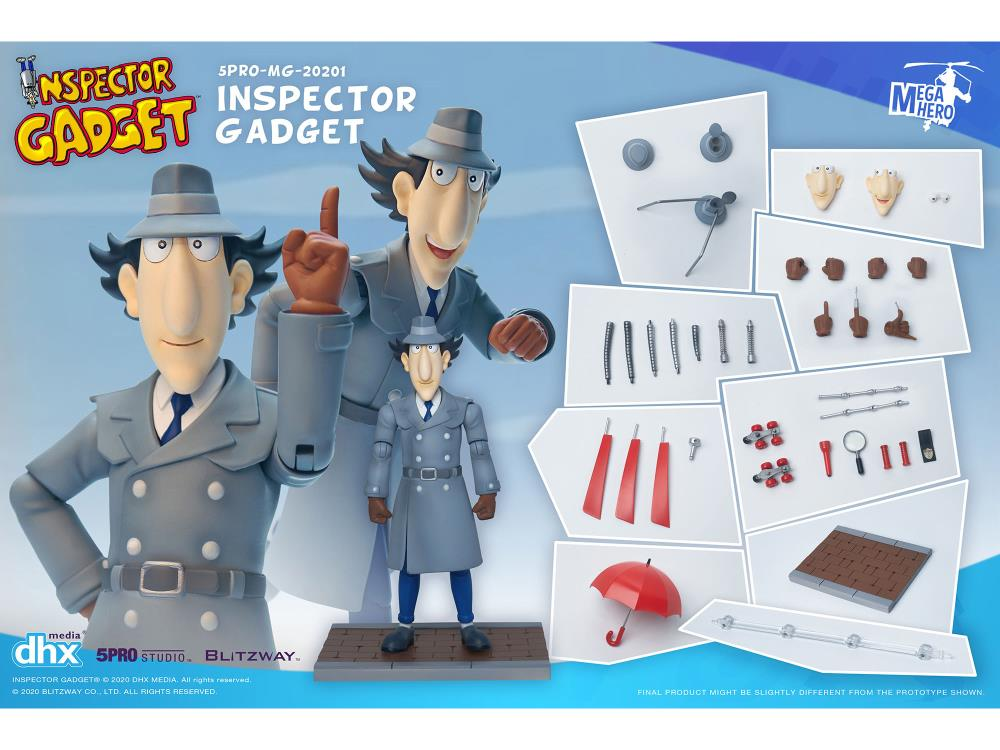 Inspector Gadget Megahero Inspector Gadget Figure Inspector Gadget Action Figures High Tech Gadgets