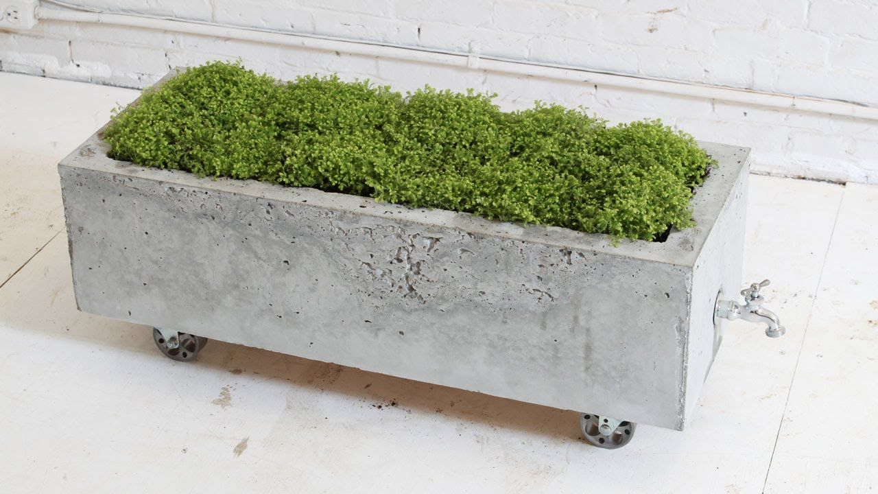 diy concrete planter,, episode 16, homemade modern | gardening