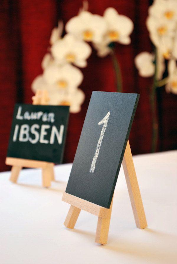 Mini Chalkboard Wedding Table Numbers Names Small Blackboard 4 99 Via Etsy