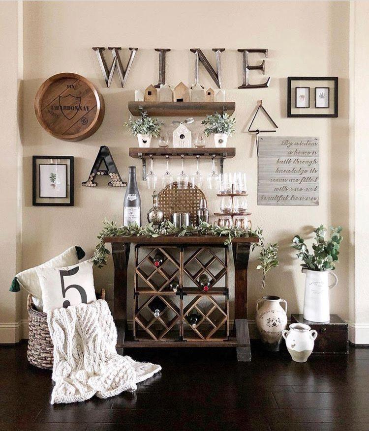 Kitchen Wine Nook Wine Wall Decor Wine Decor Kitchen Easy Home Decor