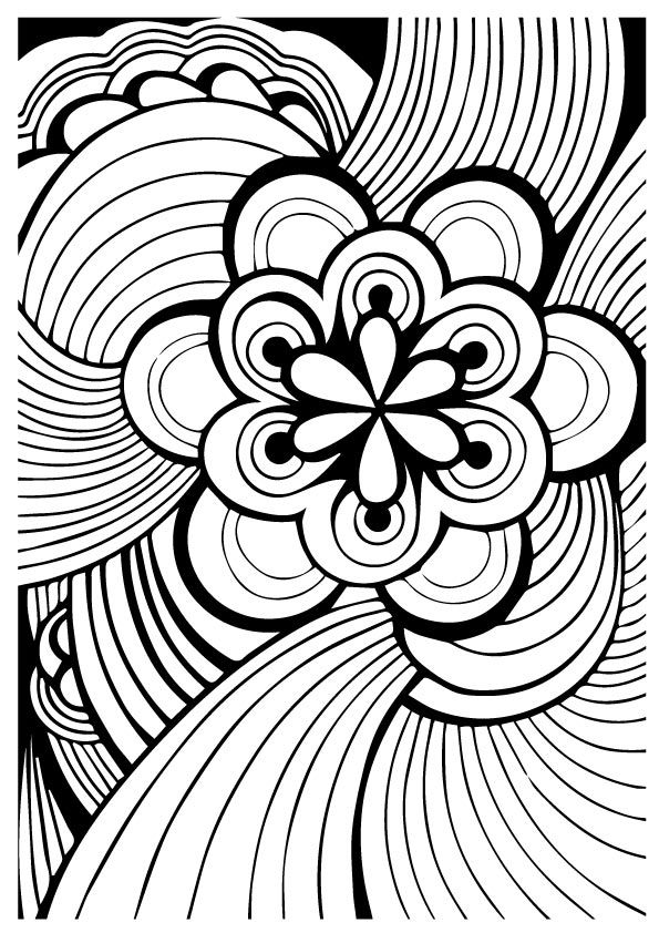 Print Coloring Image Coloring Pages Colouring Art Therapy Pattern Coloring Pages