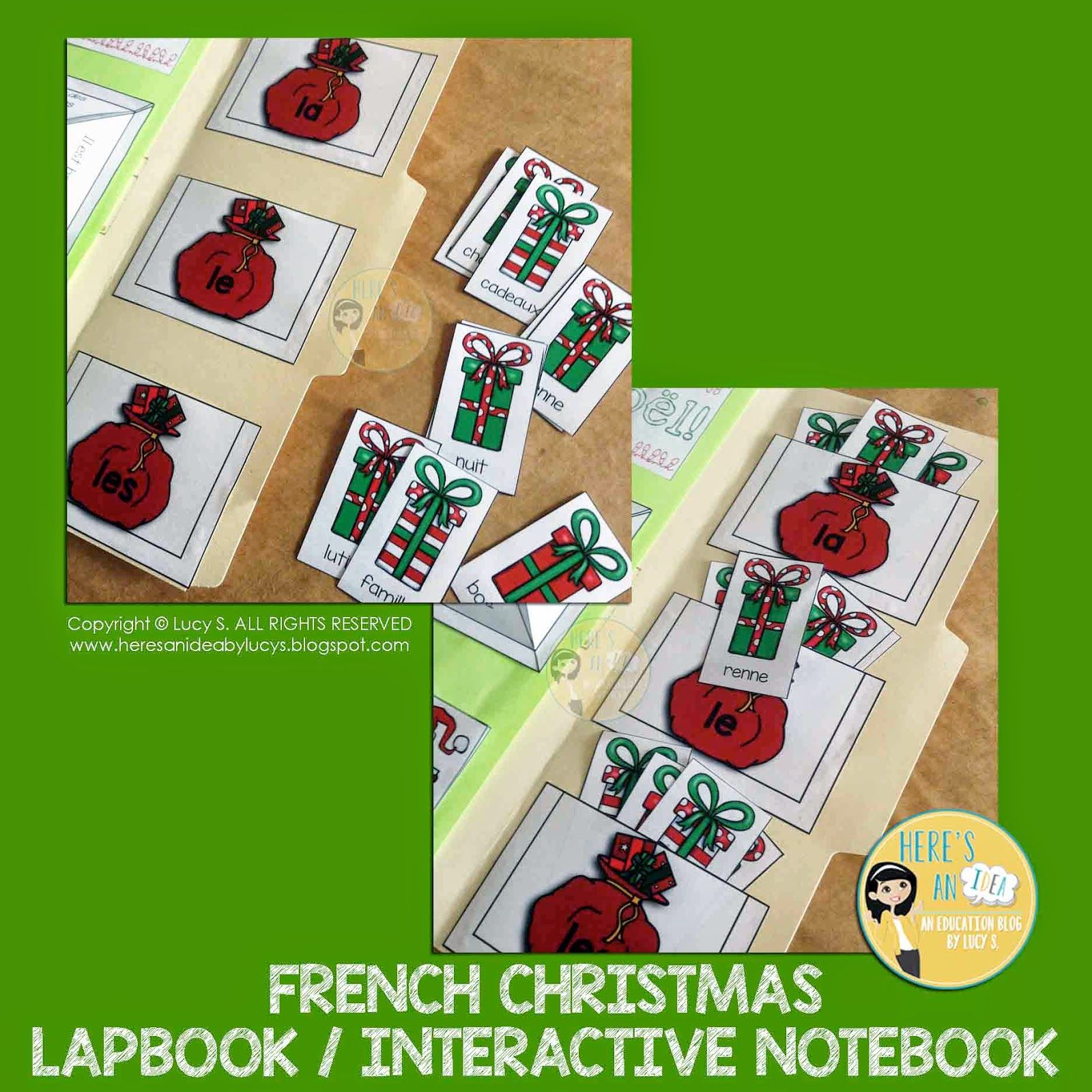 French Christmas Interactive Pocket Sorting Activity | Noel ...