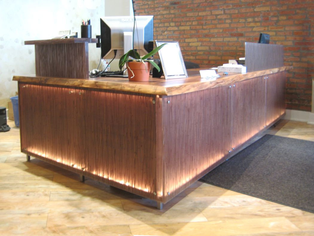 Reclaimed Wood Rustic Home Office: Reclaimed Wood Reception Desk - Google Search
