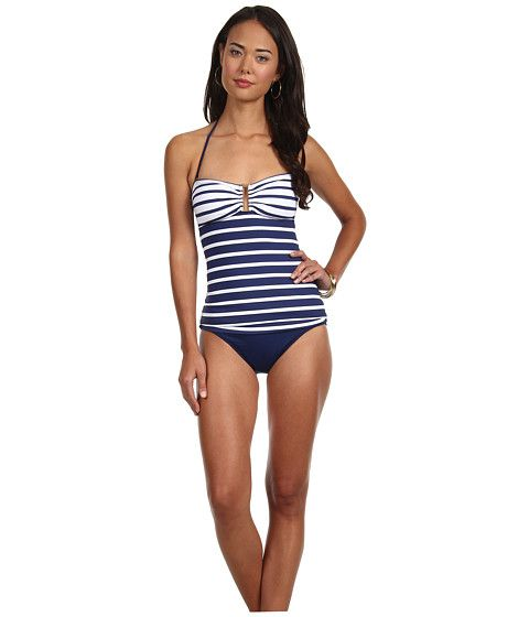 LAUREN Ralph Lauren Sophia Stripe Ring Tubini Black - Zappos.com Free Shipping BOTH Ways