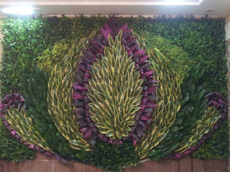 Ganpati background Wall decoration . | ganpati decoration ...