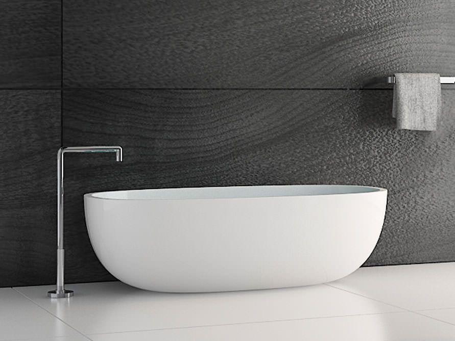Mineralguss Badewanne vittoria :: freistehende mineralguss-badewanne in weiß matt oder