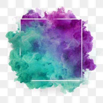Green Purple Wonderful Smoke Abstract Frame Art Png And Psd Aquarela Floral Fundo De Aquarela Ideias Instagram