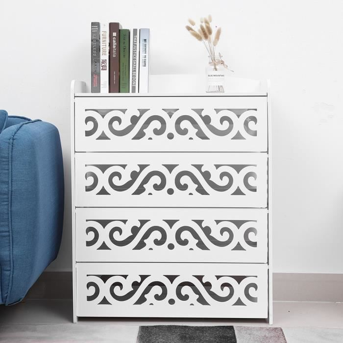 Shoe Cabinet 4-Shelf Shoe Cabinet with Drawer …