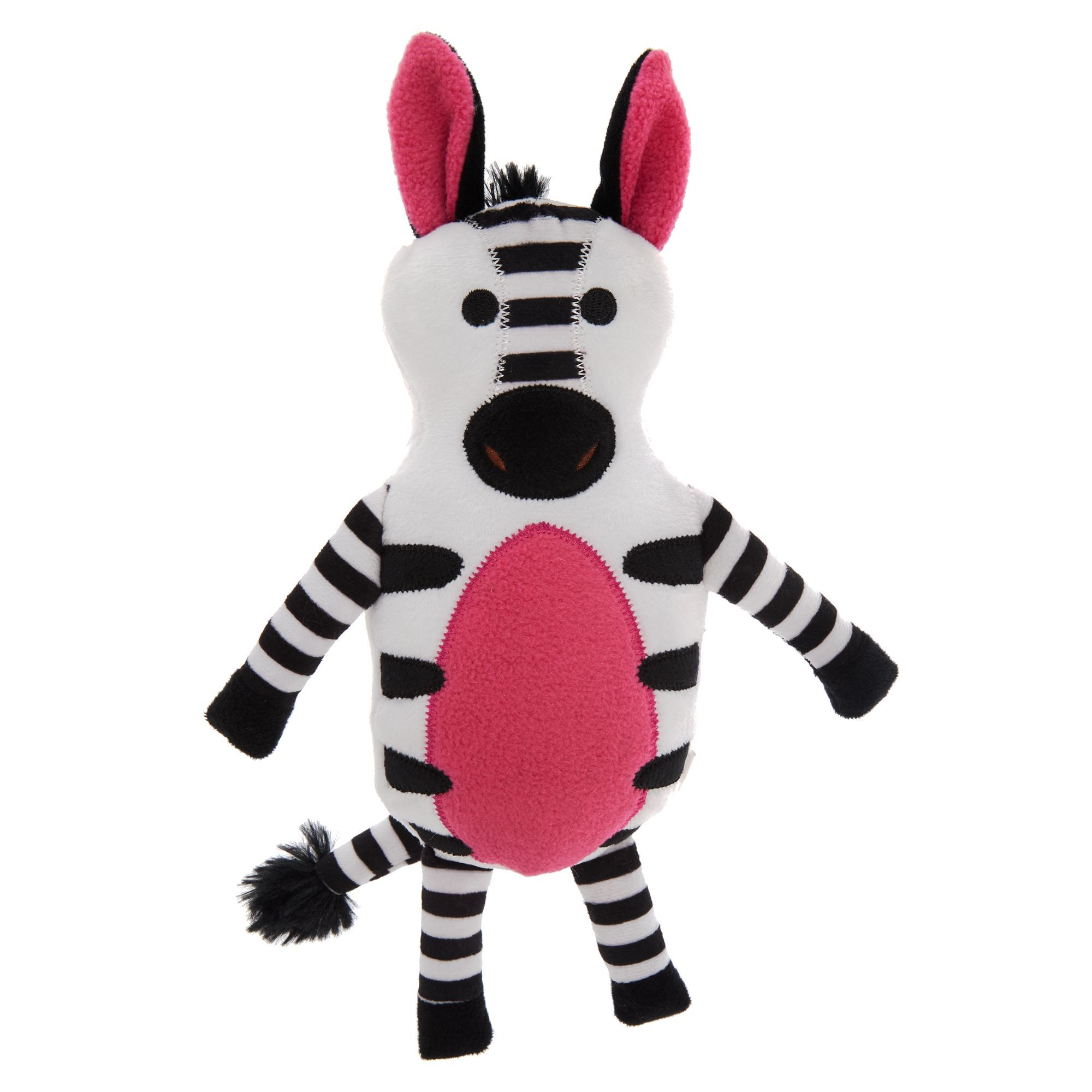 Grreat Choice Safari Zebra Dog Toy Plush Squeaker Toy Puppies