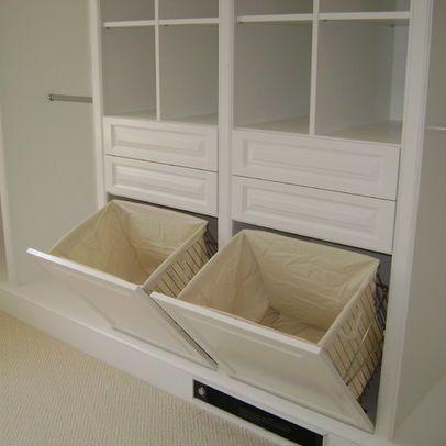 Built In Laundry Hamper Design Ideas