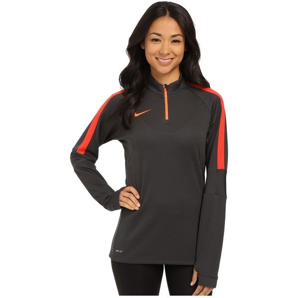 Nike Squad Long Sleeve Midlayer - Parent Women's Clothing ($65) ❤ liked on Polyvore featuring activewear, activewear tops, sweater pullover, nike sportswear, nike, long sleeve pullover and zip pullover