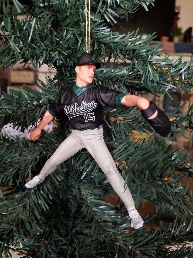 Tim Hudson Oakland Athletics MLB Baseball Christmas Tree Ornament