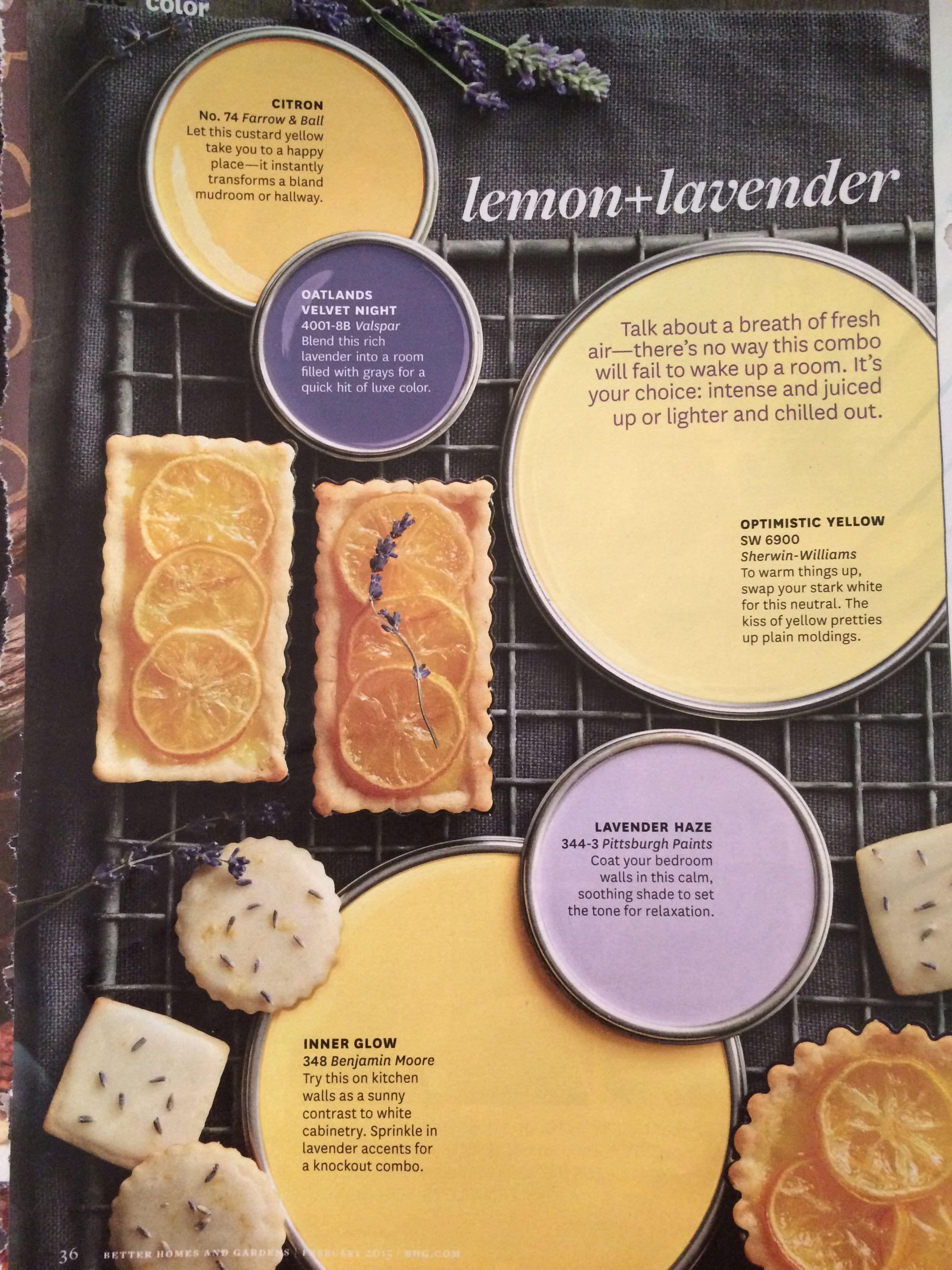 lemon and lavender | COLORS | Pinterest | Lavender, Lemon and Color ...