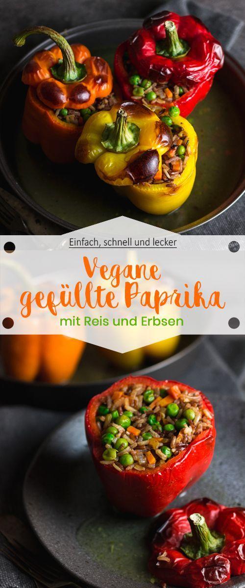 Gefüllte Paprika mit Reis und Erbsen - Ina Isst