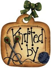 imagem decoupage clipart  Tag Knitted By