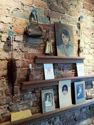 Wendy Mink Jewelry Lighting Design Interior Display Brick Wall