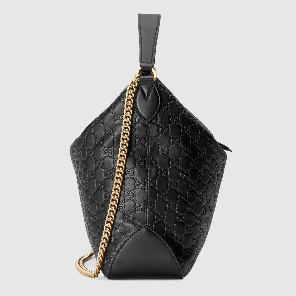 bf7beea7e97 Shop the Gucci Signature large hobo bag by Gucci. A historic Gucci model