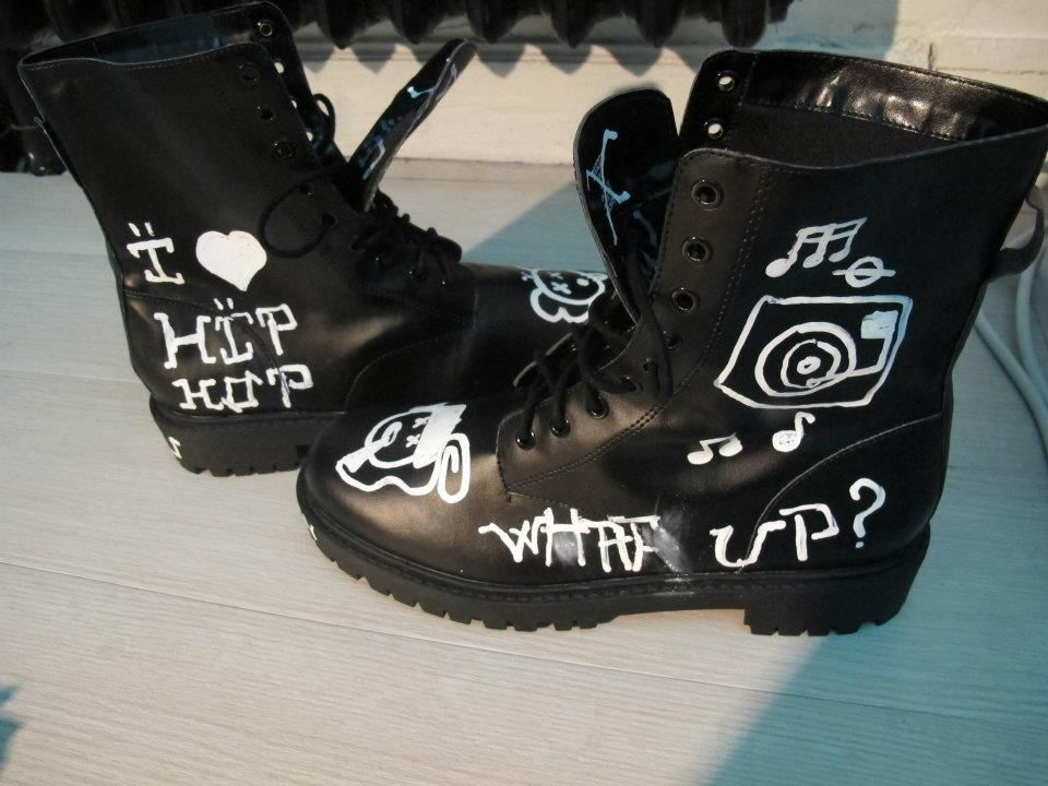 Black High Boots Smileyz H&M x Baby $kin Inspirations Kaws & Ice Cream (Part. II)