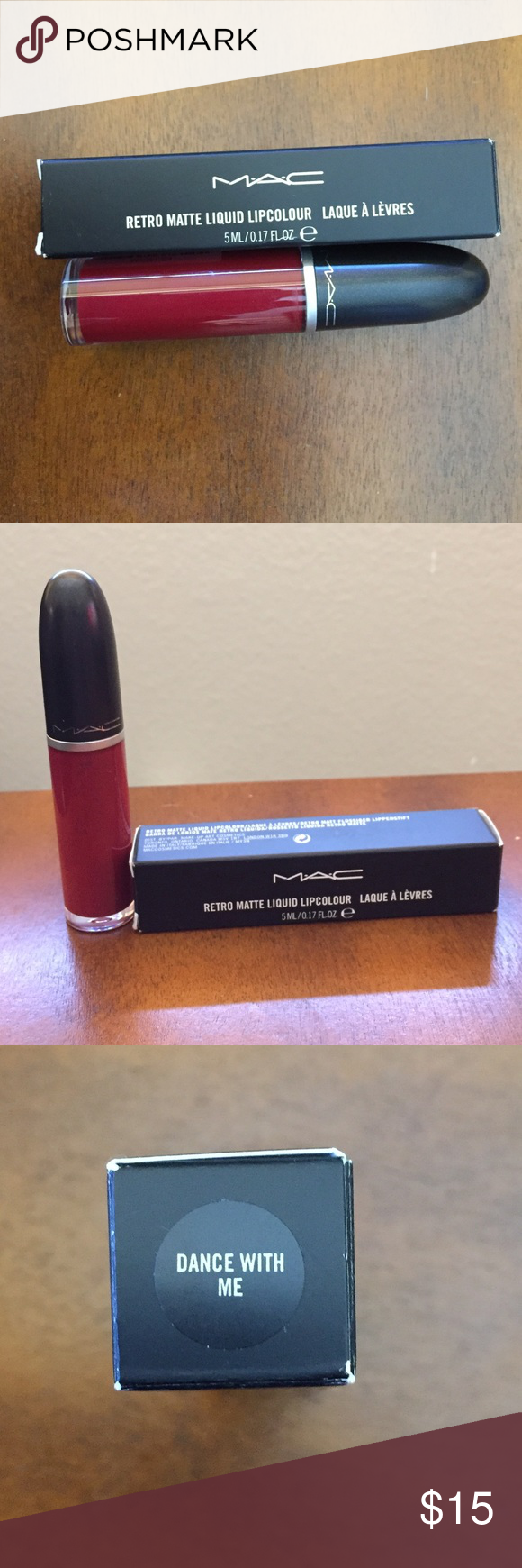 MAC Retro Matte Liquid LipColour Never used or opened. Liquid lip stain. Color: Dance With Me (Deep Cranberry Red). MAC Cosmetics Makeup Lipstick