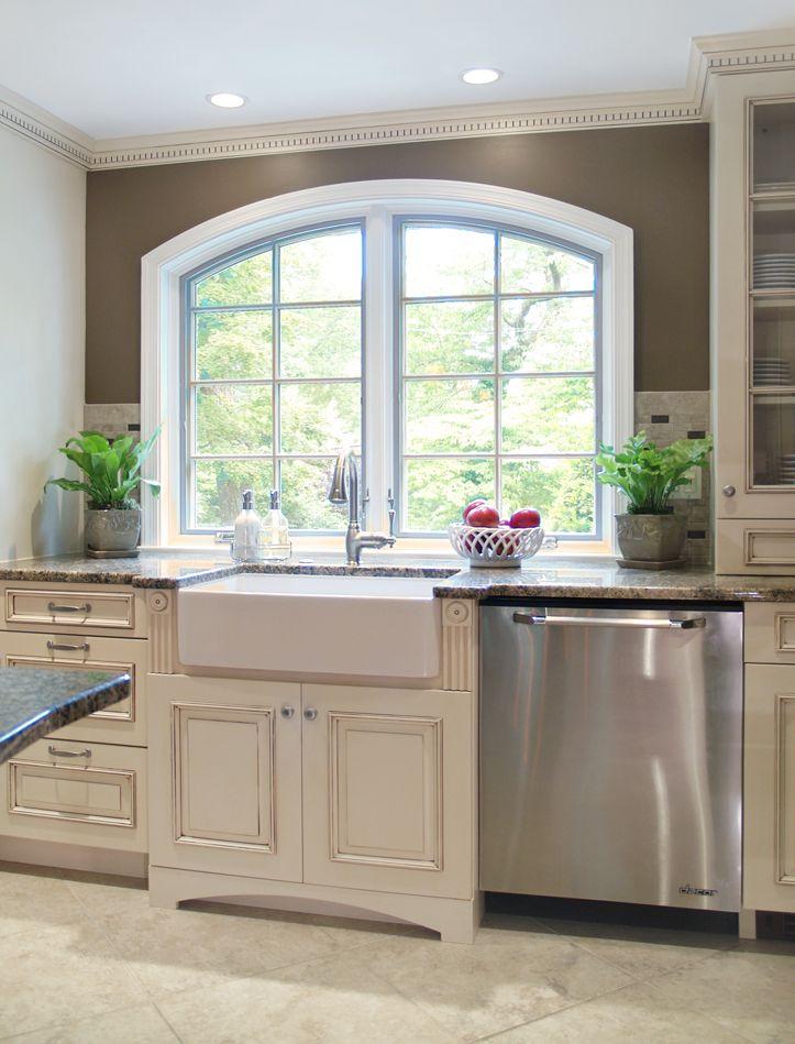 private site antique white kitchen