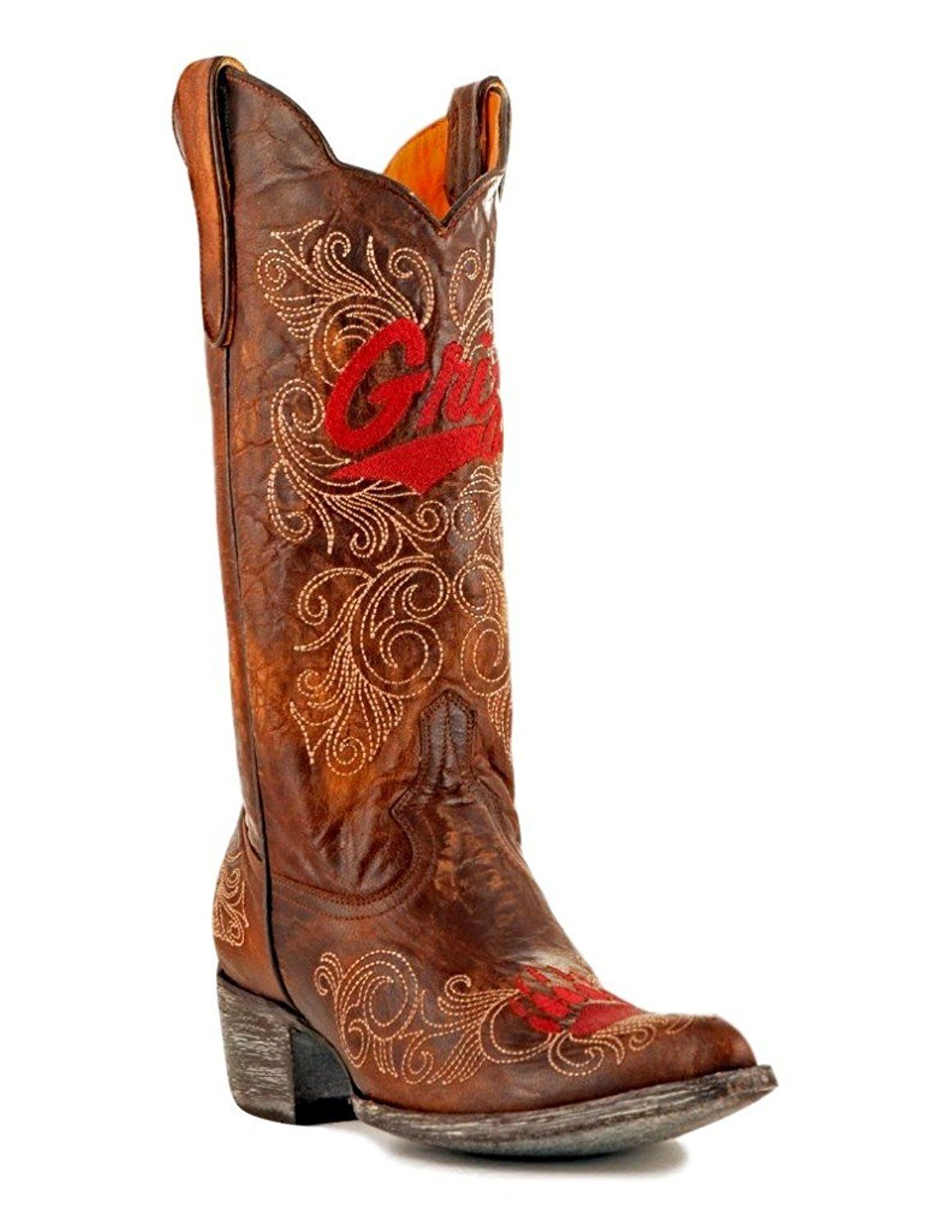 ebce0ee5740 Gameday Women's 13' Tall Leather Montana Cowboy Boots *** Quickly ...