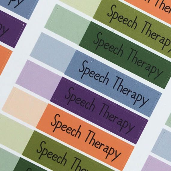 Speech Therapy Planner Sticker Appointment Label