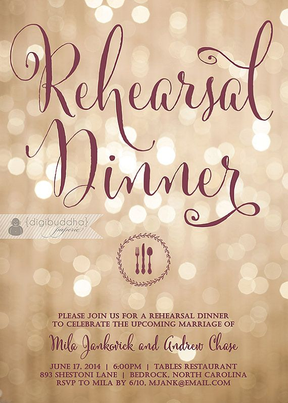 Champagne bokeh rehearsal dinner invitation by digibuddhapaperie champagne bokeh rehearsal dinner invitation by digibuddhapaperie stopboris Images