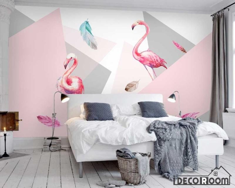 Modern Minimalist Flamingo Wallpaper Wall Murals Idcwp Hl 000450