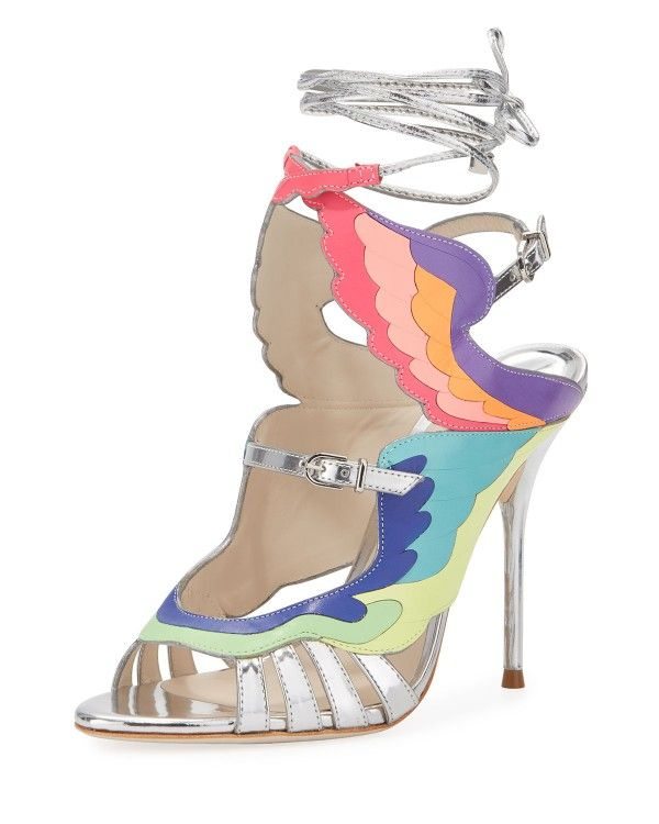 Sophia Webster - Fire Bird Metallic Cutout Sandal Open Toe Shoes 82ac9e2876f