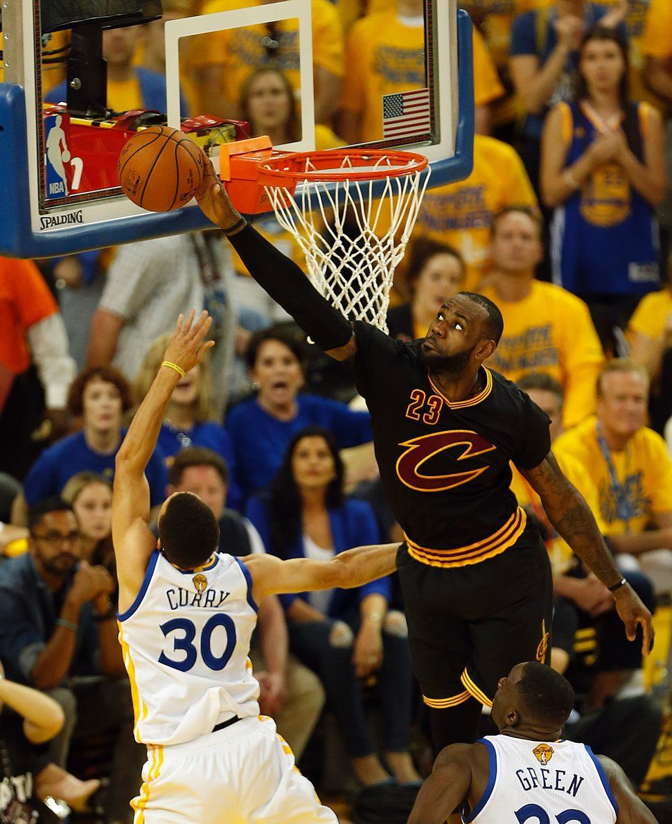Every Photo We Could Find Of LeBron Blocking Shots In The