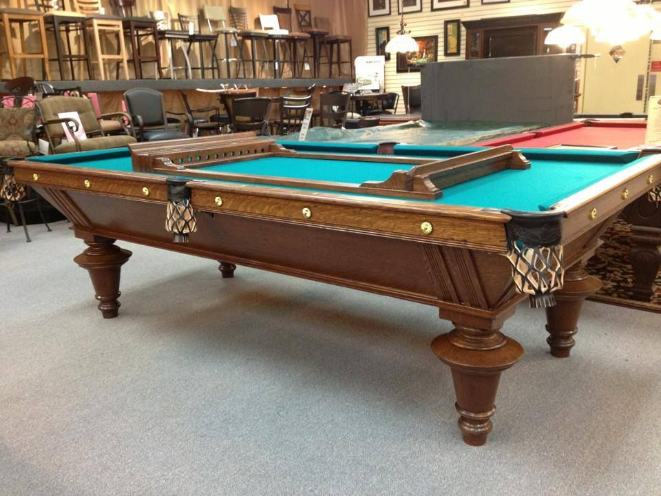 Antique 9 Brunswick Balke Collender York Pool Table Circa 1900