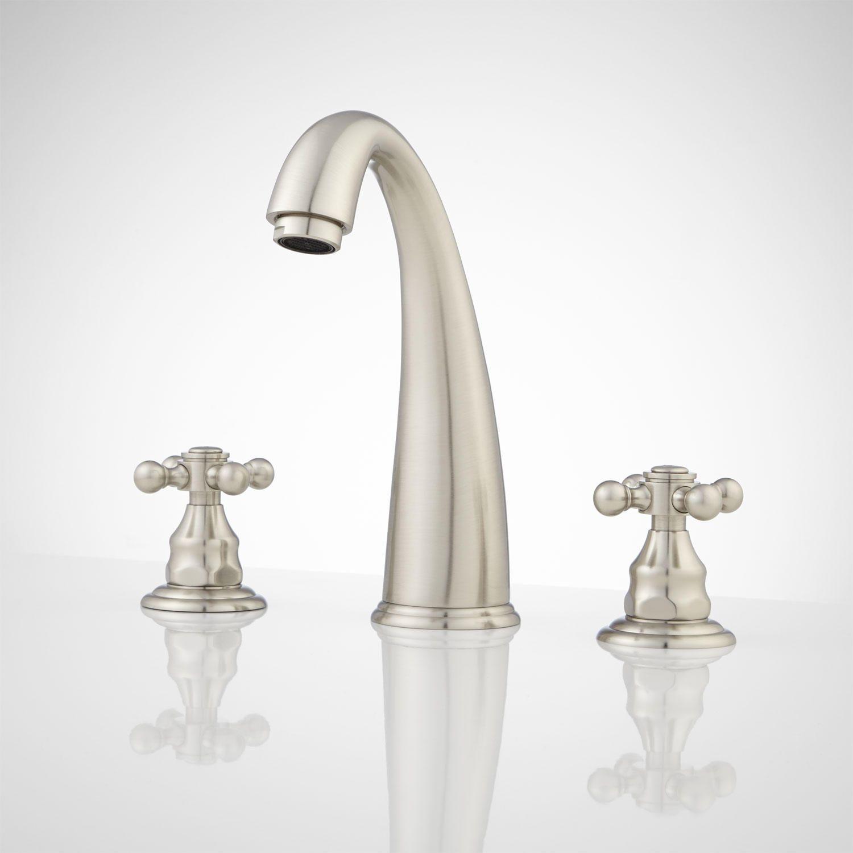 Beha Widespread Bathroom Faucet - No Overflow - Brushed Nickel ...