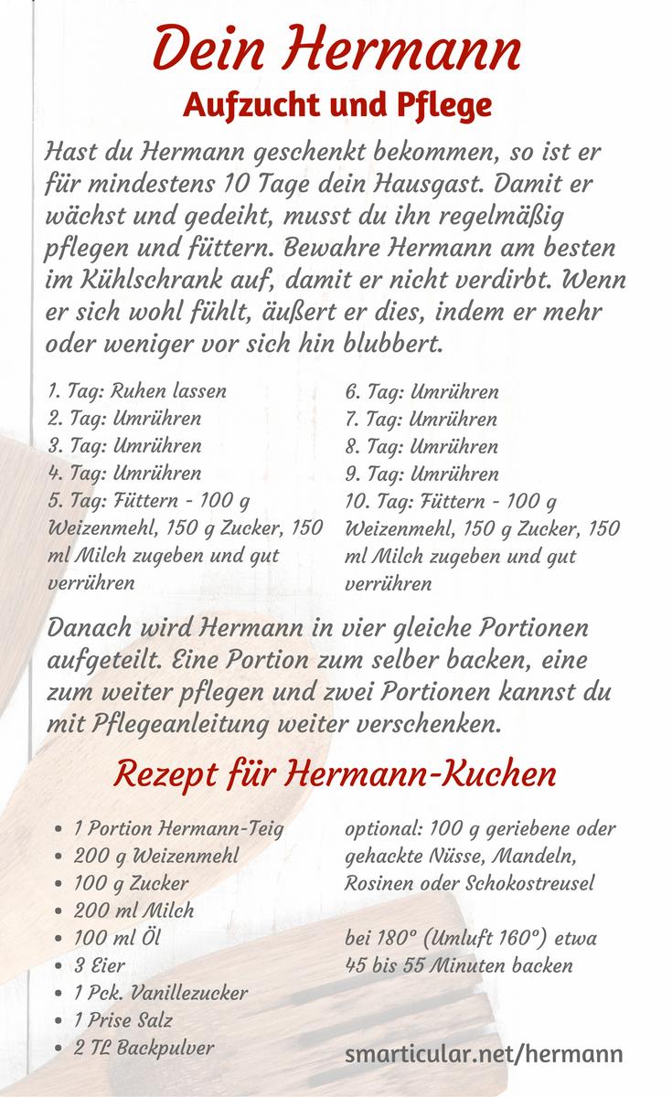 Er ist wieder da: Hermann-Teig selber machen