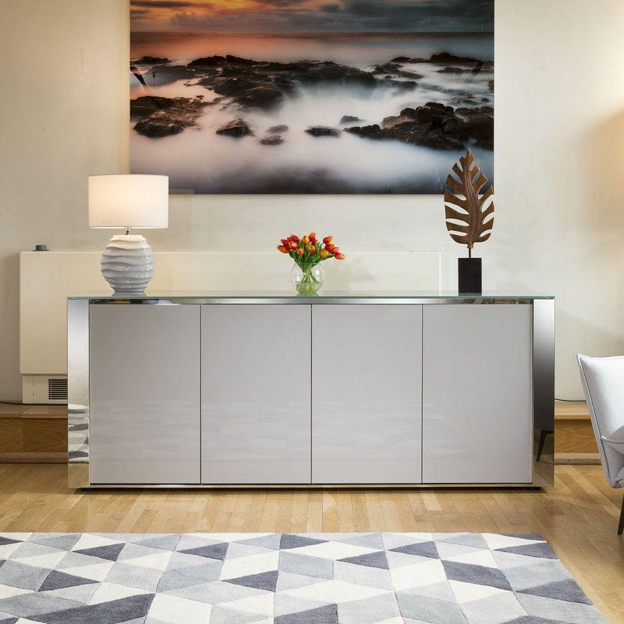 Magnificent Modern Sophie Grey Sideboard Cabinet 2mt Assembled