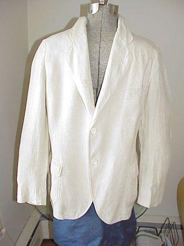 VTG-1930s-40s-Mens-Linen-Blazer-Jacket-Kool-Togs-AB-Kirschbaum-Philadelphia-sz-S