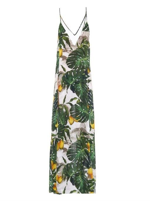 d10a076a0 Adriana Degreas Tropical Costela De Adao print dress | Inspirações ...