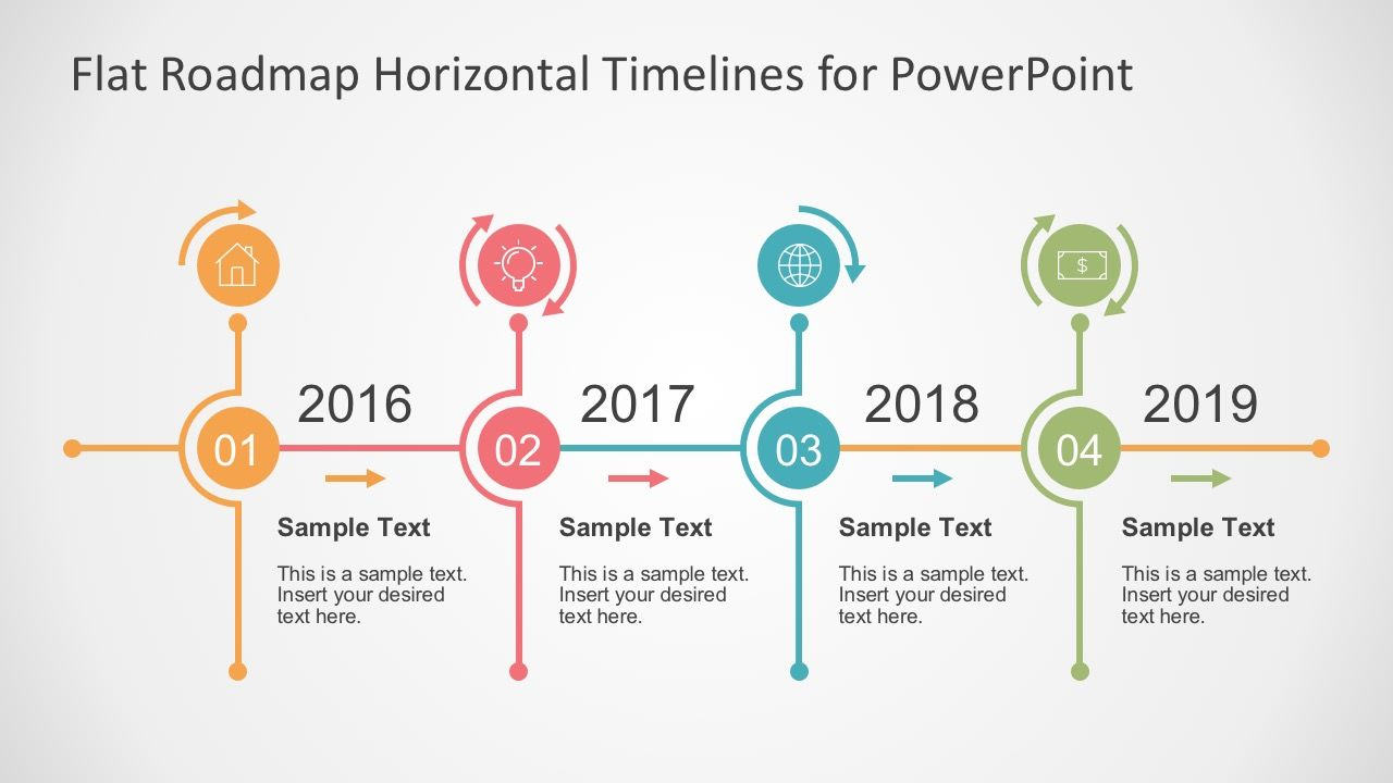 Flat Timelines Powerpoint Templates  Powerpoint Timeline Slide