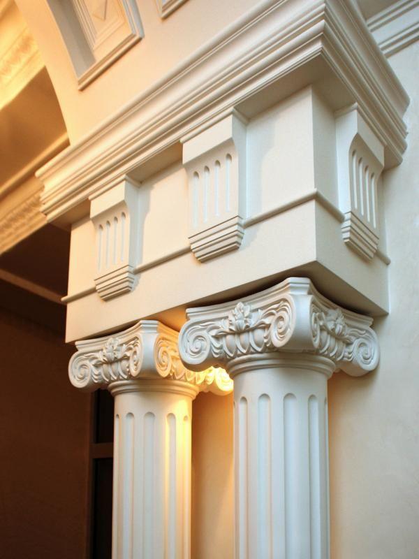 Decoraci n de poliuretano cornisas molduras molduras - Molduras para techos ...