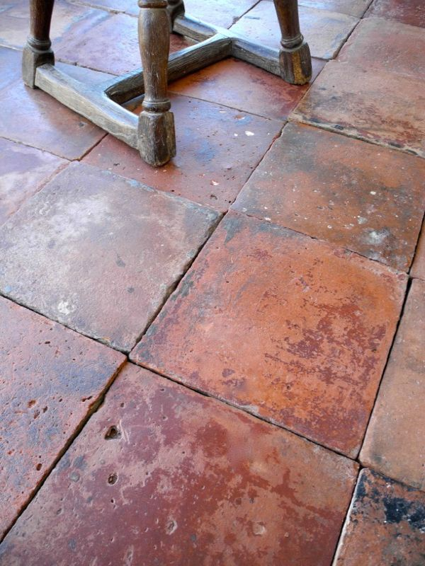Reclaimed Terracotta Floor Tiles From Chateau Domingue Color