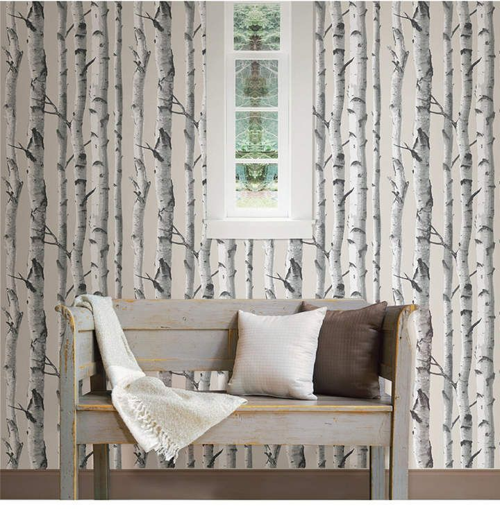 Brewster Home Fashions Birch Tree Peel and Stick Wallpaper