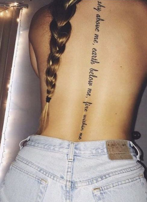 English Short Sentence Tattoo Tells The Girl S Touching Story Page 33 Of 51 Spine Tattoos For Women Spine Tattoos Tattoos
