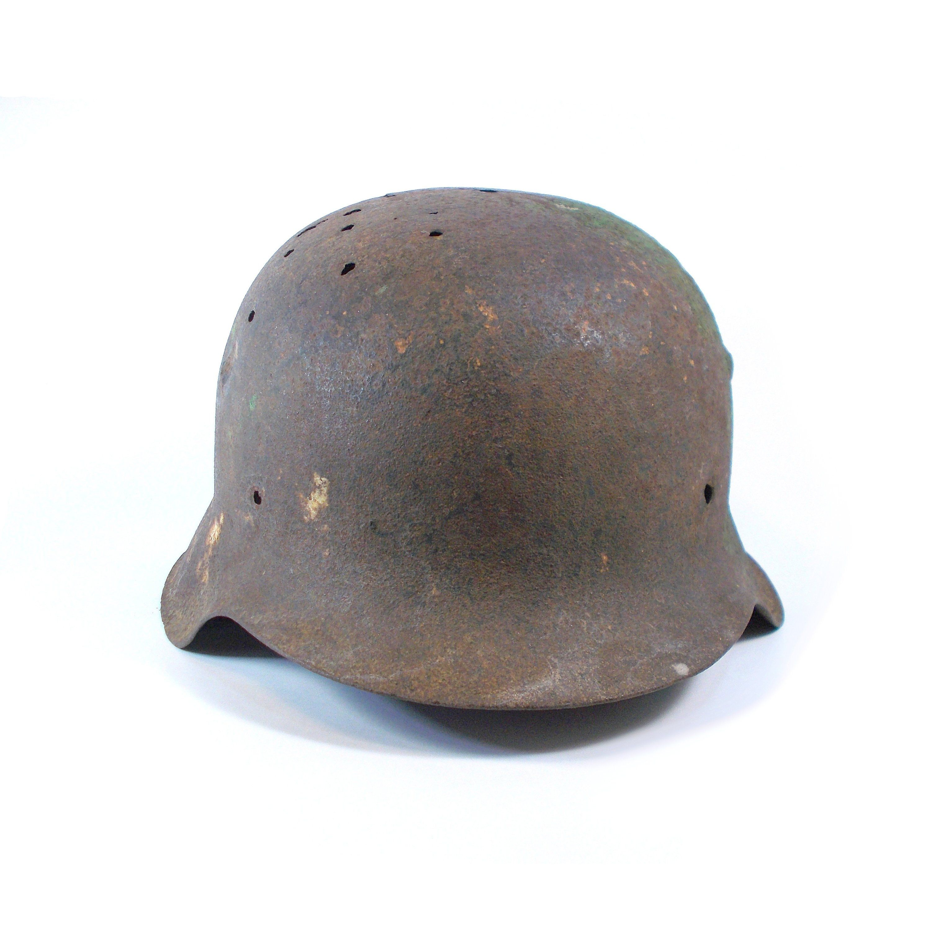 e3880b78ee27a WW2 German helmet Hard head protector Vintage military authentic WWII Army  soldier metal hat Rusty distressed war collectible memoriabilia 1