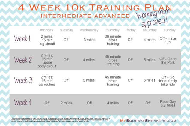 training guide for 10k run