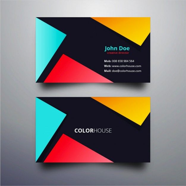 Free Business Card Templates Cards Design Fashion